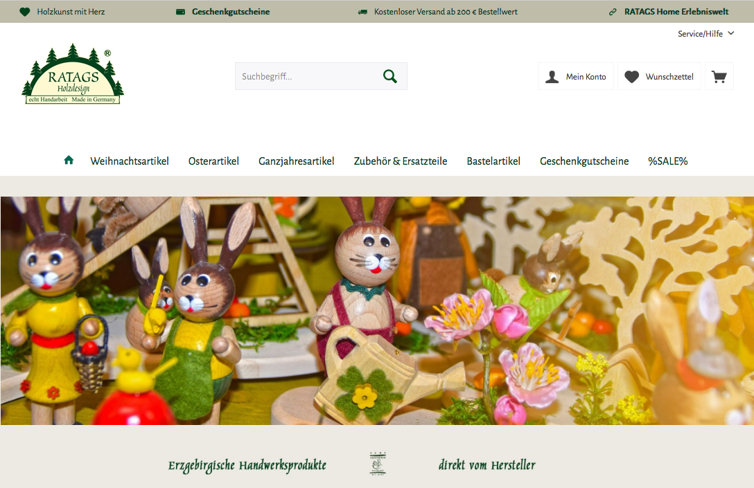 neuer Onlineshop Ratags
